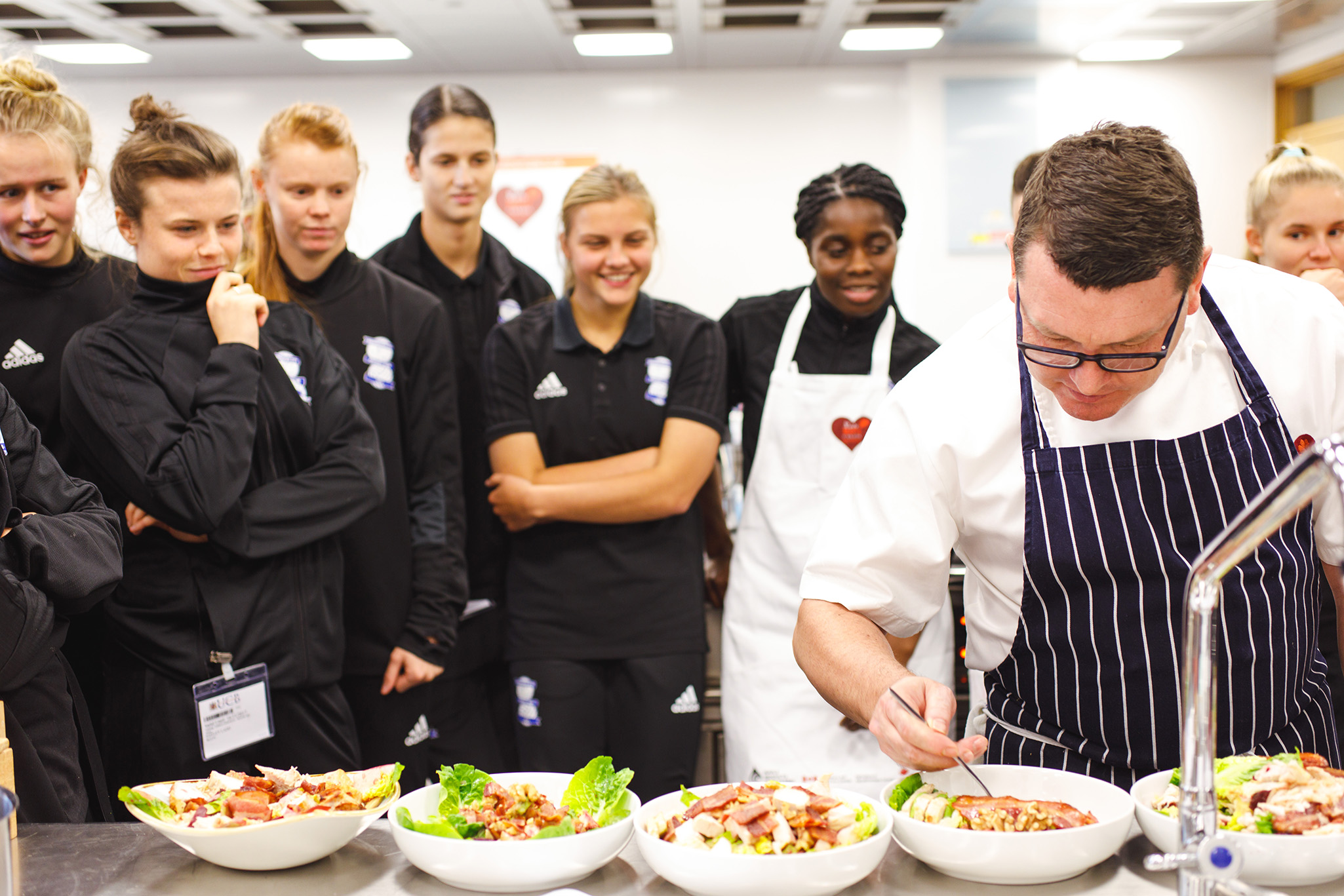 Chef Colcombe impressed with Birmingham City Ladies light lunches