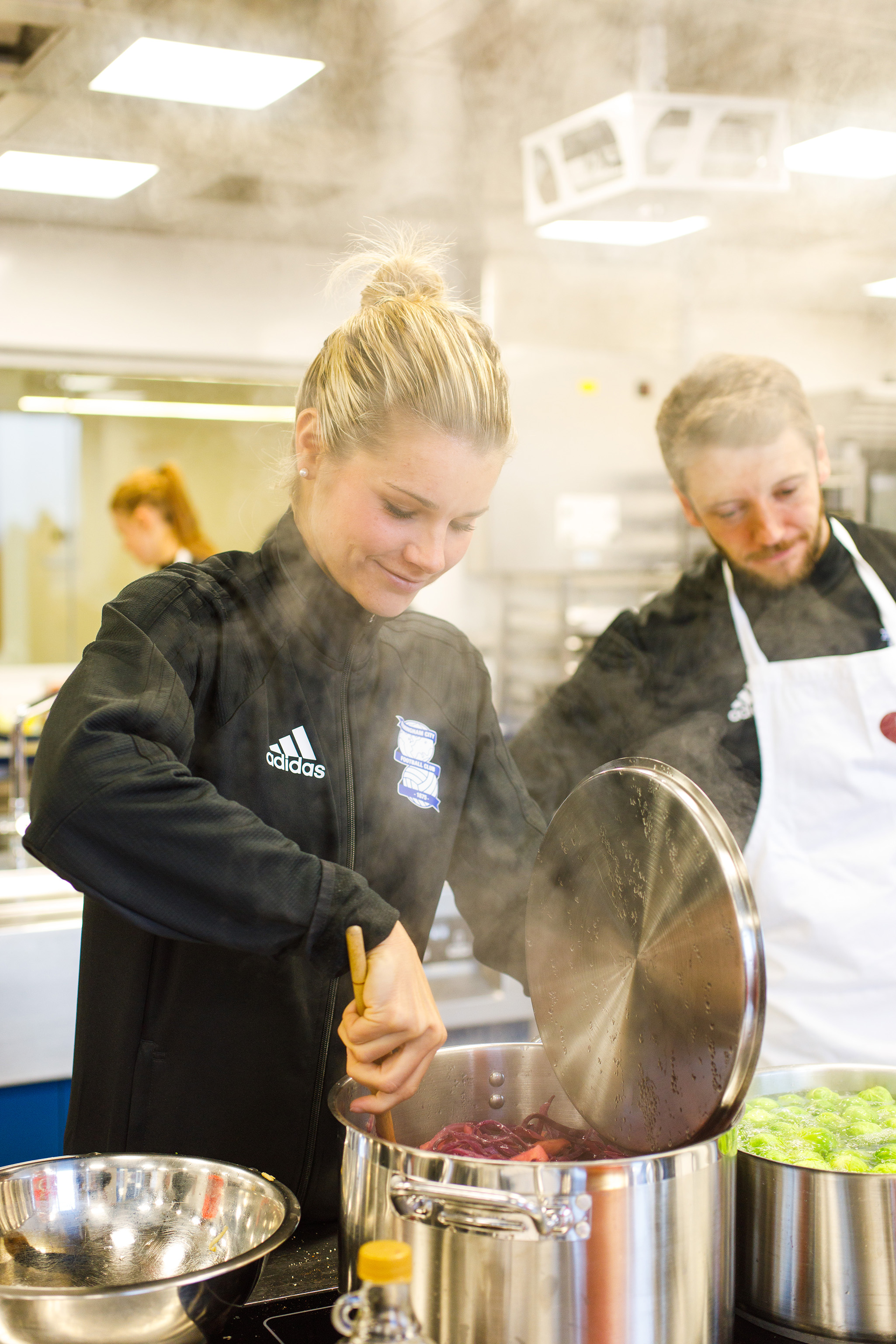 Birmingham City Ladies FC player cooking up a Christmas feast