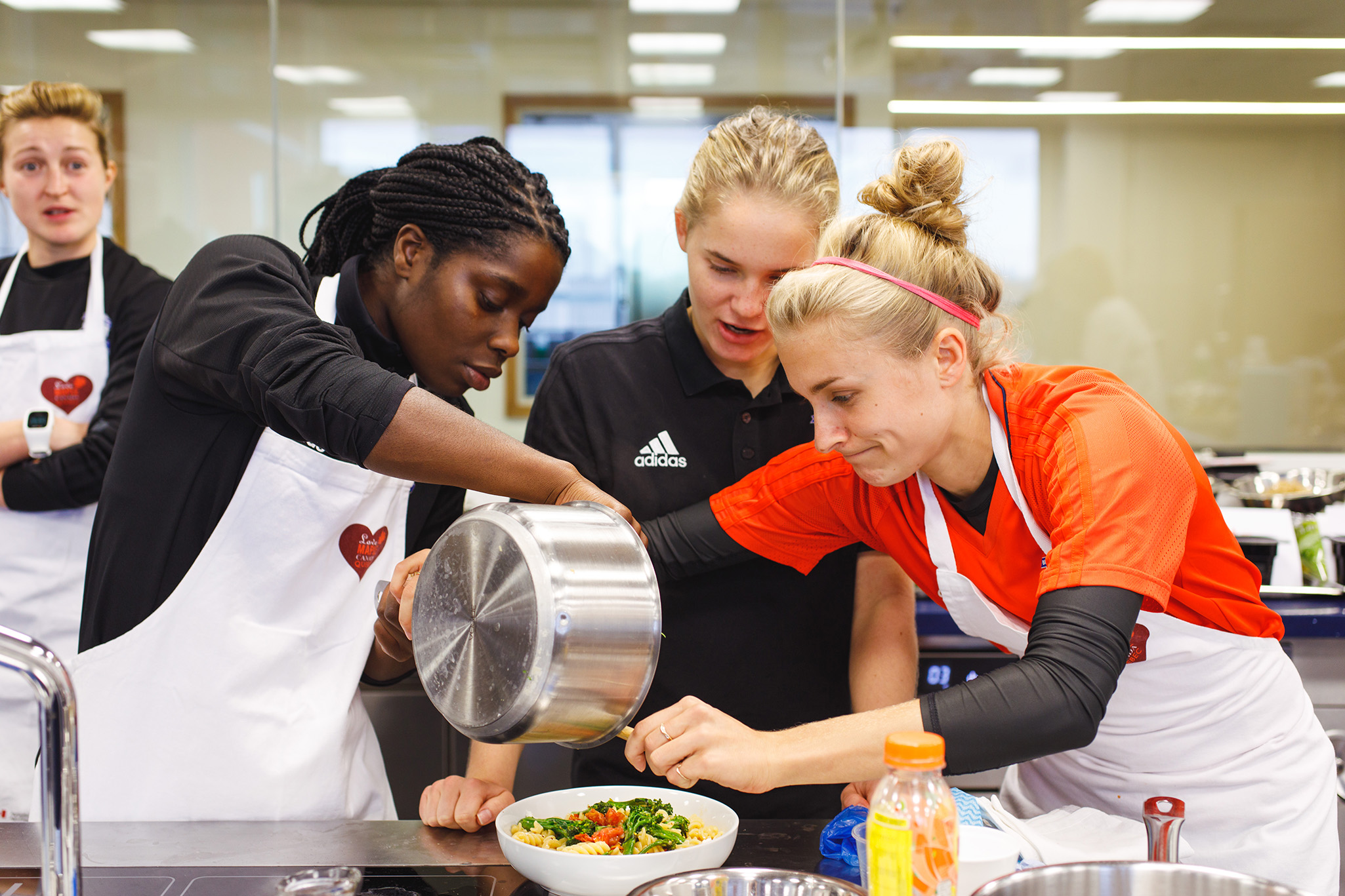 Birmingham Ladies FC players creating magic with maple at University Birmingham College