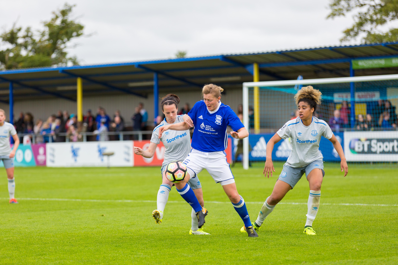 Birmingham City Ladies FC taking control of the ball