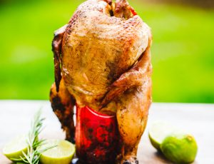 Maple beer can chicken