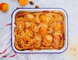 Maple apricot clafoutis