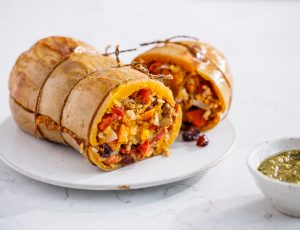 Stuffed roasted butternut squash