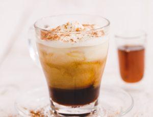 Maple mocha iced latte
