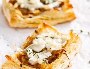 Onion and Goat's cheese tart