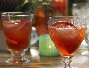 Maple and blood orange Campari punch