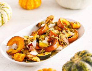 Maple glazed roast pumpkin