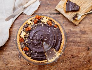Manon's maple and chocolate ganache tart