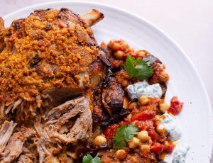 Moroccan-Style Maple Lamb with Spiced Chickpeas
