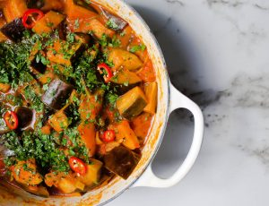 Vegan Aubergine and Maple Hot Pot