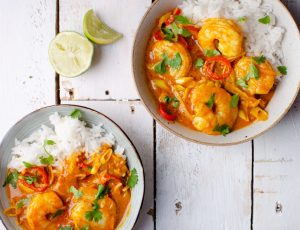 King Prawn and Spicy Maple Coconut Curry