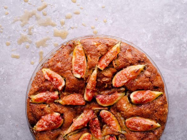 Fig and maple frangipane tart