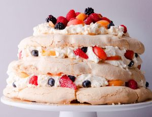 Berry and Maple Pavlova