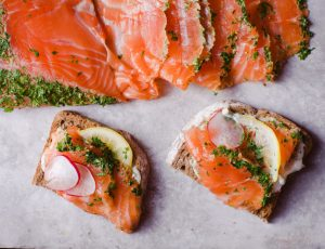 Herb and Maple Cured Salmon