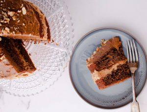 David Colcombe's Coffee, Maple and Walnut Cake