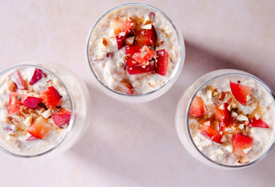 Easy overnight maple oats