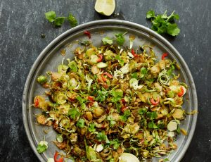 Georgina Hayden's Chilli and Maple Glazed Sprouts