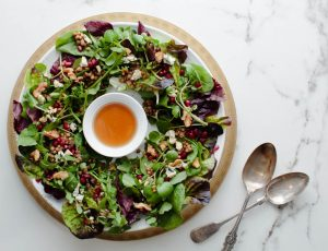 Lentil Salad, Maple, Pomegranate and Walnuts