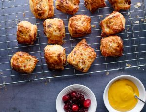 Vegetarian 'Sausage' Rolls with a Maple Glaze