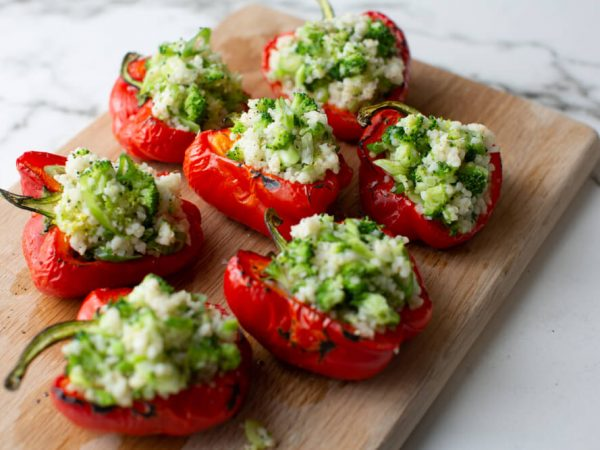 Stuffed peppers with maple syrup