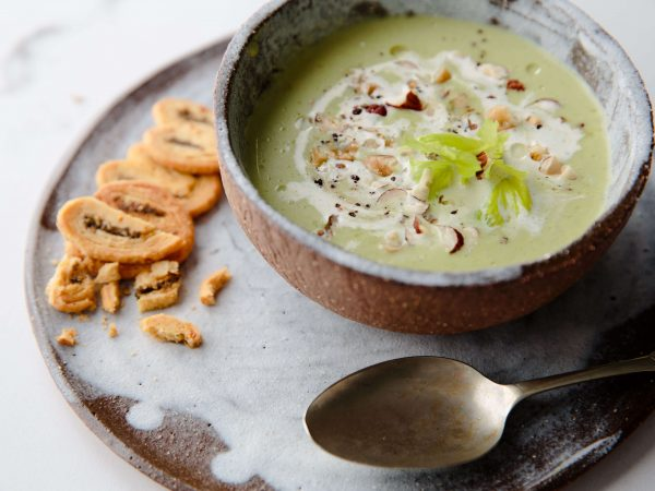 Winter celery and maple soup