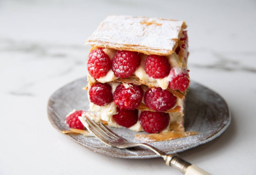 Mille feuille with maple syrup