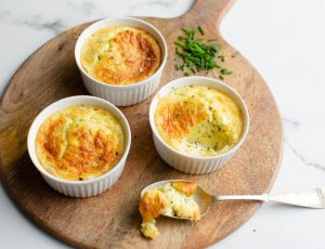Twice-baked Goats Cheese Soufflé