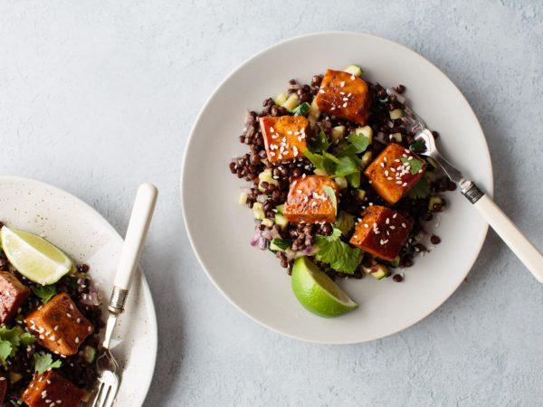 ginger and maple glazed tofu