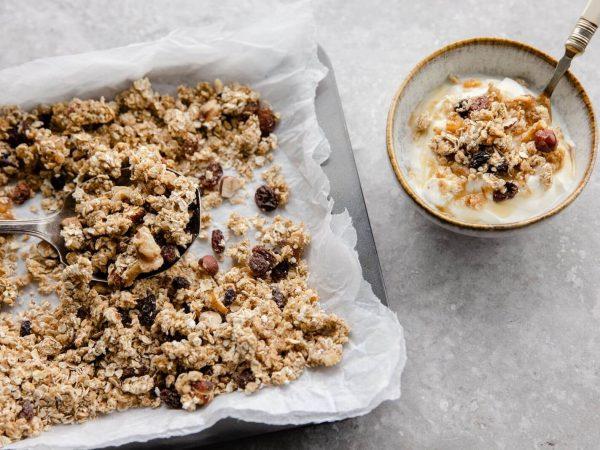Festive maple granola