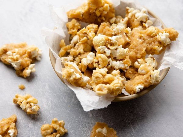 Maple syrup and popcorn
