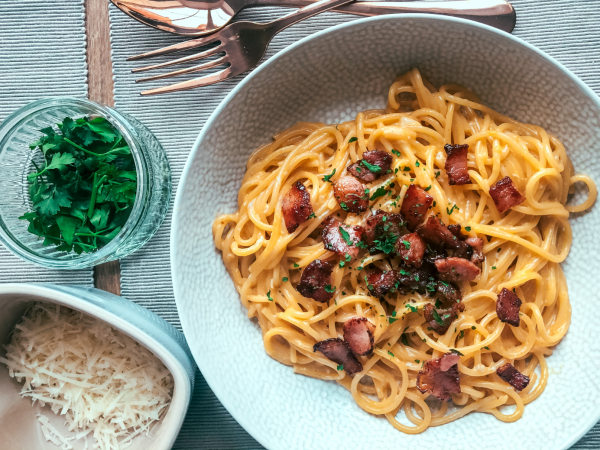 Maple bacon carbonara