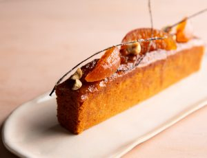 William Curley's Orange, Maple and Praline Cake