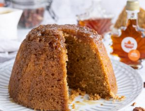 Domestic Gothess' Vegan Maple Steamed Pudding with Maple Custard