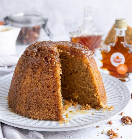 Maple steamed pudding
