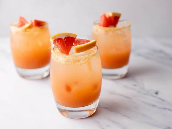 Maple and blood orange punch