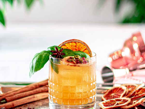 Spiced maple sour