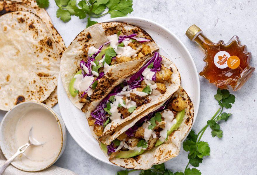 Maple Chipotle Cauliflower Tacos