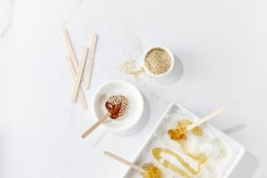 maple taffy sesame seeds