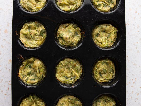 Oven baked veg maple pancakes