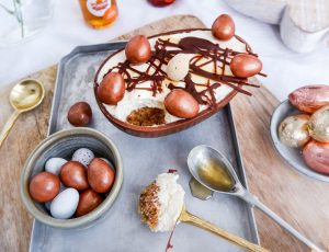 Jemma Loi's Maple and Pecan Easter Egg Cheesecake