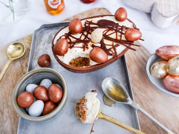 Maple and Pecan Easter Egg Cheesecake