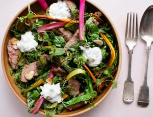 Leftover Lamb with Maple and Mint Yoghurt