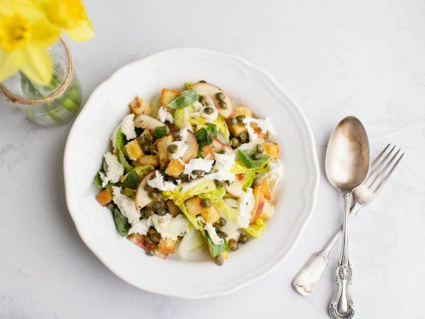 Maple panzanella salad