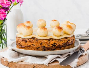 Nourishing Amy's Vegan Maple Simnel Cake