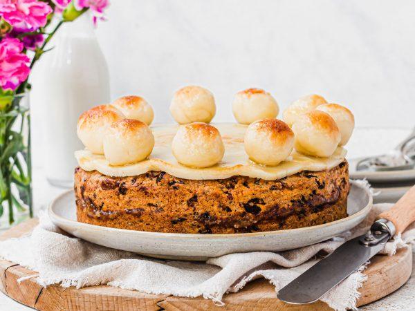 Vegan simnel cake