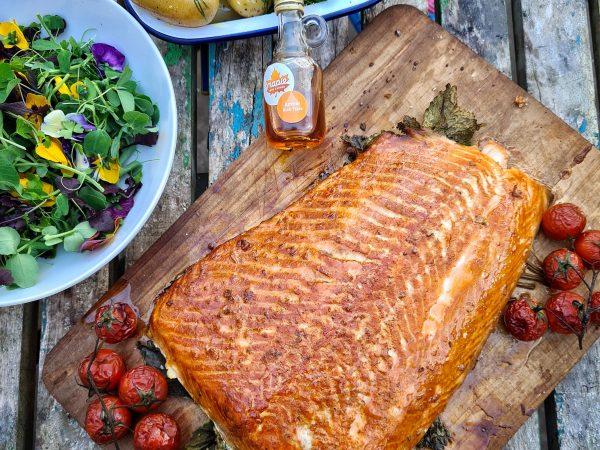Maple Glazed Hot Smoked Salmon