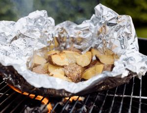 Maple Parmesan Garlic Potato Parcels