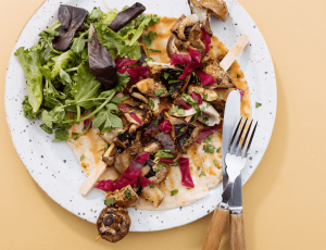 Grilled Maple and Balsamic Mushrooms Shawarma