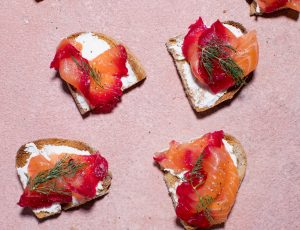 Beetroot and Maple Cured Salmon