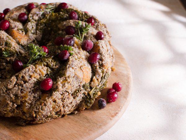 Maple Nut Roast Wreath Recipe
